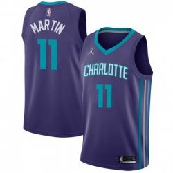 Men Nike Charlotte Hornets 11 Cody Martin Purple NBA Jordan Swingman Statement Edition Jersey