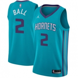Men Nike Charlotte Hornets 2 LaMelo Ball Teal NBA Jordan Swingman Icon Edition Jersey