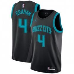 Men Nike Charlotte Hornets 4 Devonte 27 Graham Black NBA Jordan Swingman City Edition 2018 19 Jersey