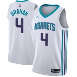 Men Nike Charlotte Hornets 4 Devonte 27 Graham White NBA Jordan Swingman Association Edition Jersey