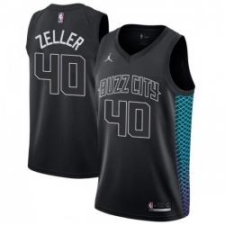 Men Nike Charlotte Hornets 40 Cody Zeller Black NBA Jordan Swingman City Edition Jersey