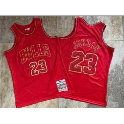 Bulls 23 Michael Jordan Red 1996 97 Hardwood Classics Jersey