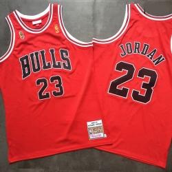 Bulls 23 Michael Jordan Red 1996 97 Hardwood Classics Mesh Jersey