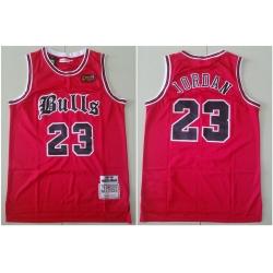 Bulls 23 Michael Jordan Red 1997 NBA Finals Patch 1997 98 Hardwood Classics Jersey