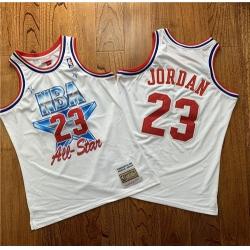 Bulls 23 Michael Jordan White 1981 All Star Hardwood Classics Jersey