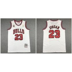 Bulls 23 Michael Jordan White 1998 All Star Hardwood Classics Jersey