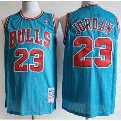 Chicago Bulls 23 Michael Jordan Blue 1995 96 Hardwood Classics Swingman Jersey