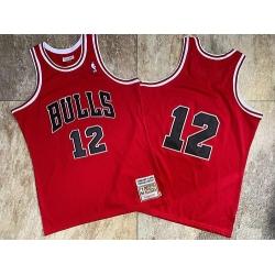 Men Chicago Bulls 12 Michael Jordan Red 1990 Hardwood Classics Jersey