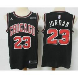 Men Chicago Bulls 23 Michael Jordan Black 2021 Brand Jordan Swingman Stitched NBA Jersey With Sponsor Logo