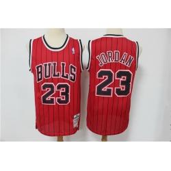 Men Chicago Bulls 23 Michael Jordan Red Hardwood Classics Jersey