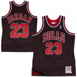Men Chicago Bulls 23 Michael Jordan Throwback Prinstripe Jersey