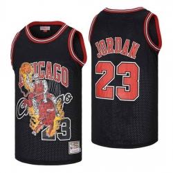 Men Chicago Bulls 23 Michael Jordan skeleton black Jersey