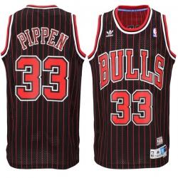 Men Chicago Bulls Scottie Pippen 33 adidas Black Hardwood Classics Throwback jersey