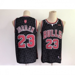Men's Chicago Bulls #23 Michael Jordan Black Panther Limiter Jersey
