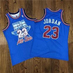 NBA 23 Michael Jordan 1993 All Star Blue Hardwood Classics Jersey