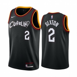 Men Nike Cleveland Cavaliers 2 Collin Sexton Black NBA Swingman 2020 21 City Edition Jersey