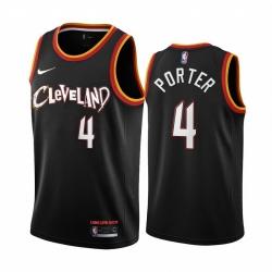 Men Nike Cleveland Cavaliers 4 Kevin Porter Jr  Black NBA Swingman 2020 21 City Edition Jersey