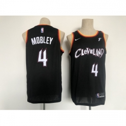 Men's Cleveland Cavaliers #4 Evan Mobley Nike Black 2021 City Player Jersey