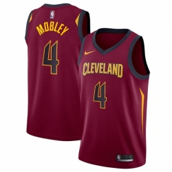 Men's Cleveland Cavaliers #4 Evan Mobley Red Nike Wine 2021 NBA Draft First Round Pick Swingman Jersey