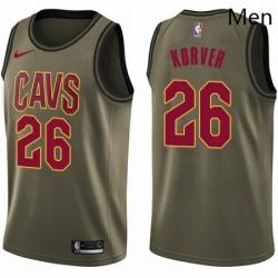 Mens Nike Cleveland Cavaliers 26 Kyle Korver Swingman Green Salute to Service NBA Jersey