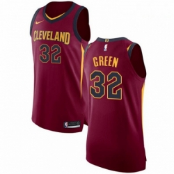 Mens Nike Cleveland Cavaliers 32 Jeff Green Authentic Maroon Road NBA Jersey Icon Edition