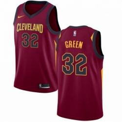 Mens Nike Cleveland Cavaliers 32 Jeff Green Swingman Maroon Road NBA Jersey Icon Edition