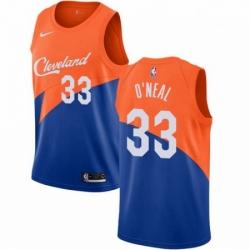 Mens Nike Cleveland Cavaliers 33 Shaquille ONeal Swingman Blue NBA Jersey City Editi