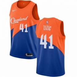 Mens Nike Cleveland Cavaliers 41 Ante Zizic Swingman Blue NBA Jersey City Edition