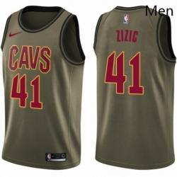 Mens Nike Cleveland Cavaliers 41 Ante Zizic Swingman Green Salute to Service NBA Jersey