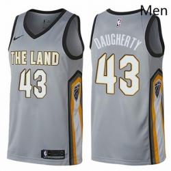 Mens Nike Cleveland Cavaliers 43 Brad Daugherty Swingman Gray NBA Jersey City Edition
