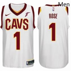 Nike NBA Cleveland Cavaliers 1 Derrick Rose Jersey 2017 18 New Season White Jersey