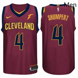 Nike NBA Cleveland Cavaliers 4 Iman Shumpert Jersey 2017 18 New Season Wine Red Jersey