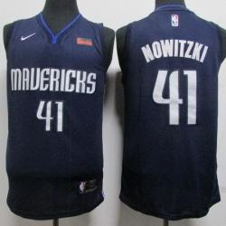 Mavericks 41 Dirk Nowitzki Navy Nike Swingman Jersey
