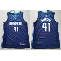 Mavericks 41 Dirk Nowitzki Navy Nike Swingman Jerseys