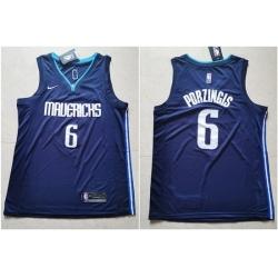 Mavericks 6 Kristaps Porzingis Navy Nike Swingman Jerseys