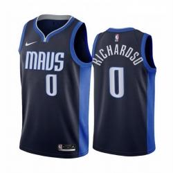 Men Dallas Mavericks 0 Josh Richardson Navy NBA Swingman 2020 21 Earned Edition Jersey