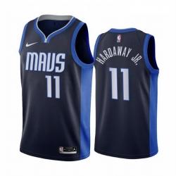 Men Dallas Mavericks 11 Tim Hardaway Jr  Navy NBA Swingman 2020 21 Earned Edition Jersey