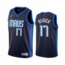Men Dallas Mavericks 17 JJ Redick Navy NBA Swingman 2020 21 Earned Edition Jersey