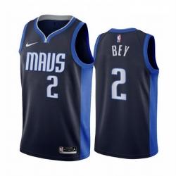 Men Dallas Mavericks 2 Tyler Bey Navy NBA Swingman 2020 21 Earned Edition Jersey