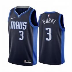 Men Dallas Mavericks 3 Trey Burke Navy NBA Swingman 2020 21 Earned Edition Jersey