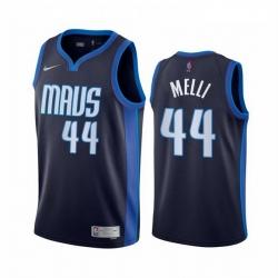Men Dallas Mavericks 44 Nicolo Melli Navy NBA Swingman 2020 21 Earned Edition Jersey