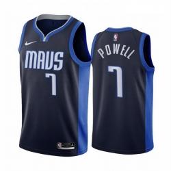 Men Dallas Mavericks 7 Dwight Powell Navy NBA Swingman 2020 21 Earned Edition Jersey