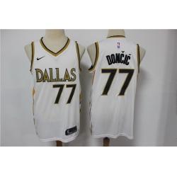 Men Dallas Mavericks 77 Luka Doncic White 2021 City Edition Nike Swingman Jersey