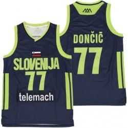 Men Mavericks 77 Luka Doncic Slovenija National Jersey Green