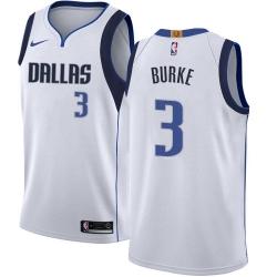 Men Nike Dallas Mavericks 3 Trey Burke White NBA Swingman Association Edition Jersey