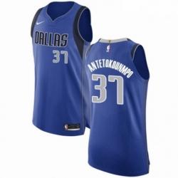 Mens Nike Dallas Mavericks 37 Kostas Antetokounmpo Authentic Royal Blue Road NBA Jersey Icon Edition