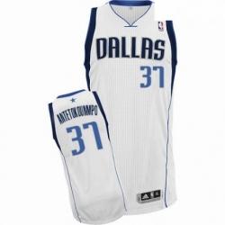 Mens Nike Dallas Mavericks 37 Kostas Antetokounmpo Authentic White Home NBA Jersey Association Edition
