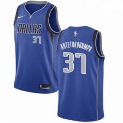 Mens Nike Dallas Mavericks 37 Kostas Antetokounmpo Swingman Royal Blue Road NBA Jersey Icon Edition