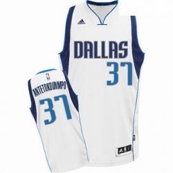 Mens Nike Dallas Mavericks 37 Kostas Antetokounmpo Swingman White Home NBA Jersey Association Edition