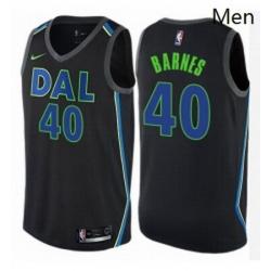 Mens Nike Dallas Mavericks 40 Harrison Barnes Authentic Black NBA Jersey City Edition